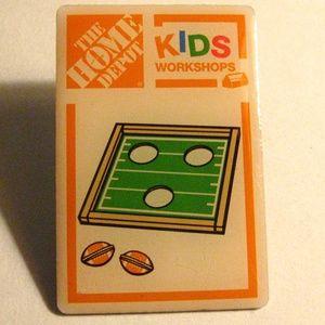 Home Depot Kids Cornhole Bag Toss Lapel Pin